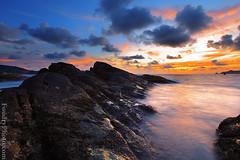 Patong Beach Sunset (A.alFoudry) Tags: trip light sunset sea orange cloud color beach rock clouds canon thailand island eos rocks colorful ray mark tide wave full shore frame april 5d kuwait fullframe phuket heavy ef similan kuwaiti q8 abdullah newer عبدالله جزيره mark2 2011 1635mm || f28l kuw q80 q8city xnuzha alfoudry الفودري canonef1635mmf28l abdullahalfoudry foudryphotocom mark|| 5d|| canoneos5d|| mk|| canoneos5dmark|| تايلاند