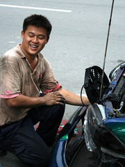the smiling mechanic