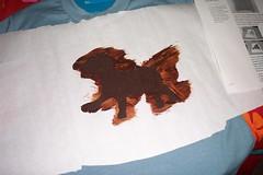 freezer paper stencil...