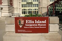 Ellis Island - Sign