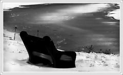Absence/Assenza ( Colpo di fulmine ) Tags: travel autumn winter bw photography frozen loneliness quiet bridges romance solo bestofflickr smrgsbord icesnow amazingnature assenza creativephoto sunsetatsea photosofphotography publishedphotographer flickrelite emergingmagazine photosoflandscapes ansence cherferroggiaro photosofseascapes photosoftrees photosofbenches ferroggiaroduboisgalleries amazingnaturephotos