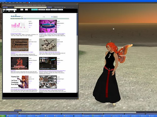 SLBrowser search integrated with Second Life client