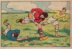 French rugby trade card