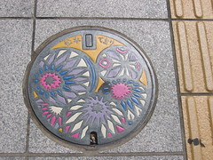 Manhole cover, Matsumoto (muuranker) Tags: street japan architecture ball matsumoto goldenglobe