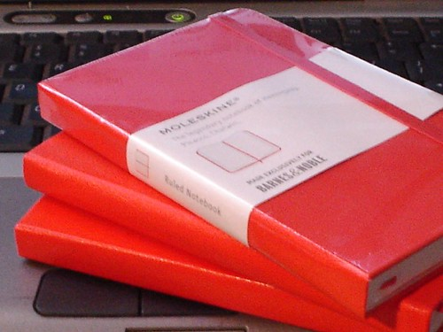 Moleskine Red Notebooks