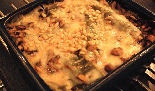 Butternut Squash, Spinach & Mushroom Lasagne