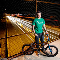 Nate Richter (Sam Adams Photo) Tags: bridge usa newmexico bike bicycle bicycling bmx cyclist adams albuquerque riding freeway samadams interstate40 naterichter