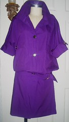 purple dress jumper (panache*) Tags: green vintage forsale thrift recyled