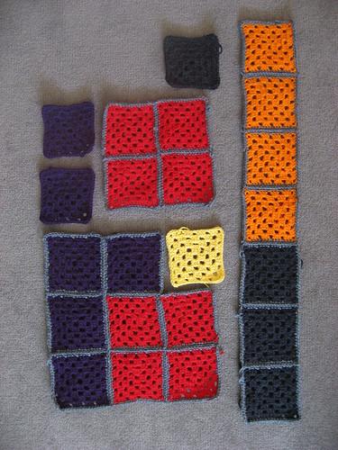 Tetris Granny Squares wip