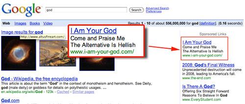 Google Vanity Ads