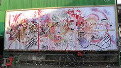 Le M.U.R. N° 27 by Yaze (tofz4u) Tags: streetart paris pasteup collage billboard lemur mur affiche artderue 75011 yaze