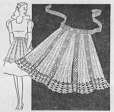 Crocheted Apron