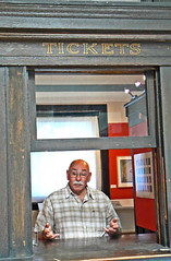 Ticket Man (tomswift46 ( Hi Res Images for Sale)) Tags: man museum booth friend vermont bald bob ticket moustache bmac goof brattleboro hesse steppenwold