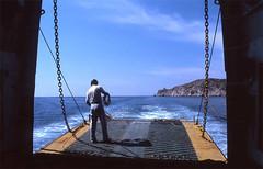 Arrival (Rob de Hero) Tags: ferry analog greek islands ship aegean slide dia greece analogue ferryman greekislands ios griechenland schiff fähre kyklades kykladen ägäis griechischeinseln