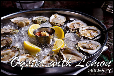 Oyster with Lemon Slices