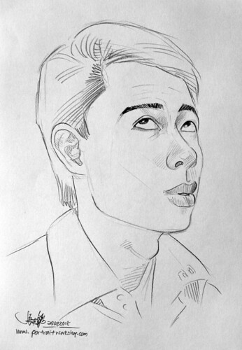 guy portrait pencil sketch 6