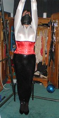 File0034 (strugglegrrl) Tags: corset gag satin spandex hobble