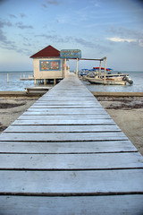 Woody's Wharf (RussHeath) Tags: color island nikon raw belize tropical ambergriscaye hdr 3x nikon18200 d80 3exposure