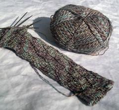Pomatomus (BlackMagicMuffin) Tags: knitty pomatomus tofutsies ravelry