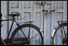 The cycle family (Jogesh S) Tags: trip india canon eos grey cycle karnataka canonef24105f4l jogesh jogeshnet shravenabelagola
