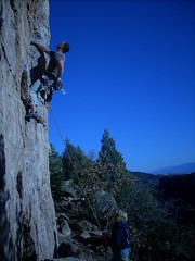 Ropegun Tony on Blackman's Burden 5.10c