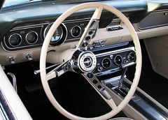 66 Mustang Interior (Dusty_73) Tags: original classic ford car wheel vintage steering interior mint 1966 dash fresno showroom mustang