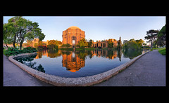 Sunrise Palace of Fine Arts - San Francisco (Oldvidhead) Tags: sanfrancisco panorama sunrise architectural palaceoffinearts nikondigital stitched hdr exploratorium bernardmaybeck famousbuildings ericlarson photomatix sanfranciscopalaceoffinearts sanfranciscomuseums oldvidhead sanfranciscolandmark panamapacificinternationalexposition photomatixhdr elarson