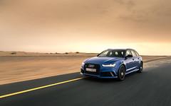 Desert Crusier. (Alex Penfold) Tags: audi rs6 blue supercars supercar super car cars autos wagon performance plus dubai uae desert