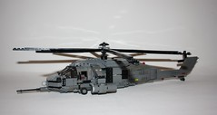 MAH-68 Midnight Creeper (Babalas Shipyards) Tags: lego aircraft military attack utility helicopter moc