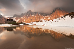 The End of the Beginning (Tommaso Renzi) Tags: sunset mountains san pale di martino trentino dolomiti rolle baita passo segantini castrozza paledisanmartinodicastrozza