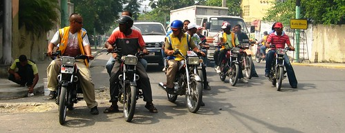 Motorcyclists in Puerto Plata, The Dominican Republic