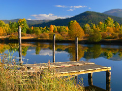 cataldo (Haiku Garry) Tags: fall leaves river dock idaho coeurdalene cataldo haikugarry cataldomission