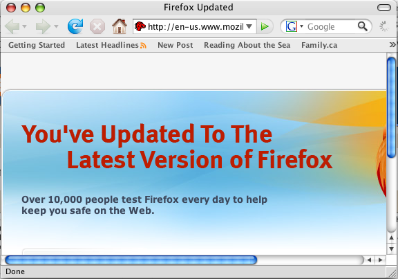 Firefox 2 in Mac OS X