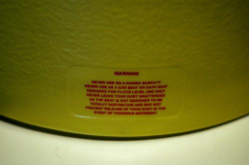 Bumbo Warning