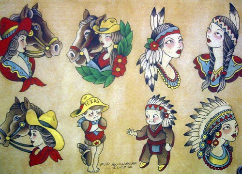 Vintage Tattoo Flash Art 37