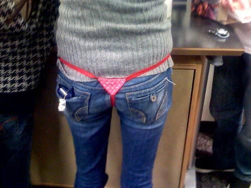 girls showing of their thongs