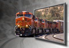 BNSF 7794 OOB (sandy.redding) Tags: railroad photoshop locomotive bnsf outofbounds oob 7794