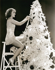 grace bradley xmas tree (carbonated) Tags: christmas xmas ladies tree vintage celebrities ladder xmastree negligee holidaypinup satinheels