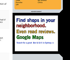 display ad for maps.google.com.au