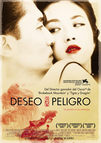 Póster español y trailer en castellano de 'Deseo, Peligro' de Ang Lee
