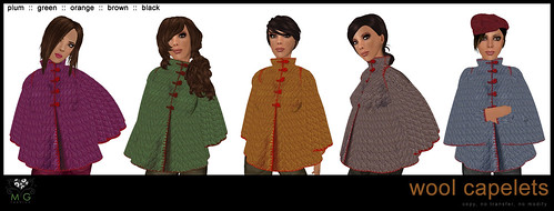 [MG fashion] Wool capelets