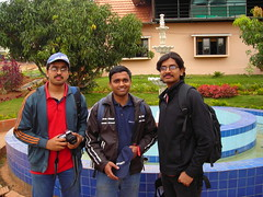 From left: Nags, Arvind and MK (aanjhan) Tags: trekking bangalore rappelling rbin ramnagar chimneyclimbing