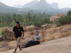 Exploring the place (aanjhan) Tags: trekking bangalore rappelling rbin ramnagar chimneyclimbing