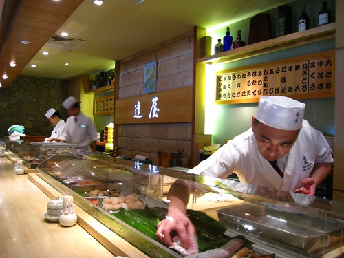 Tatsuya's Sushi Counter - after lunch.JPG