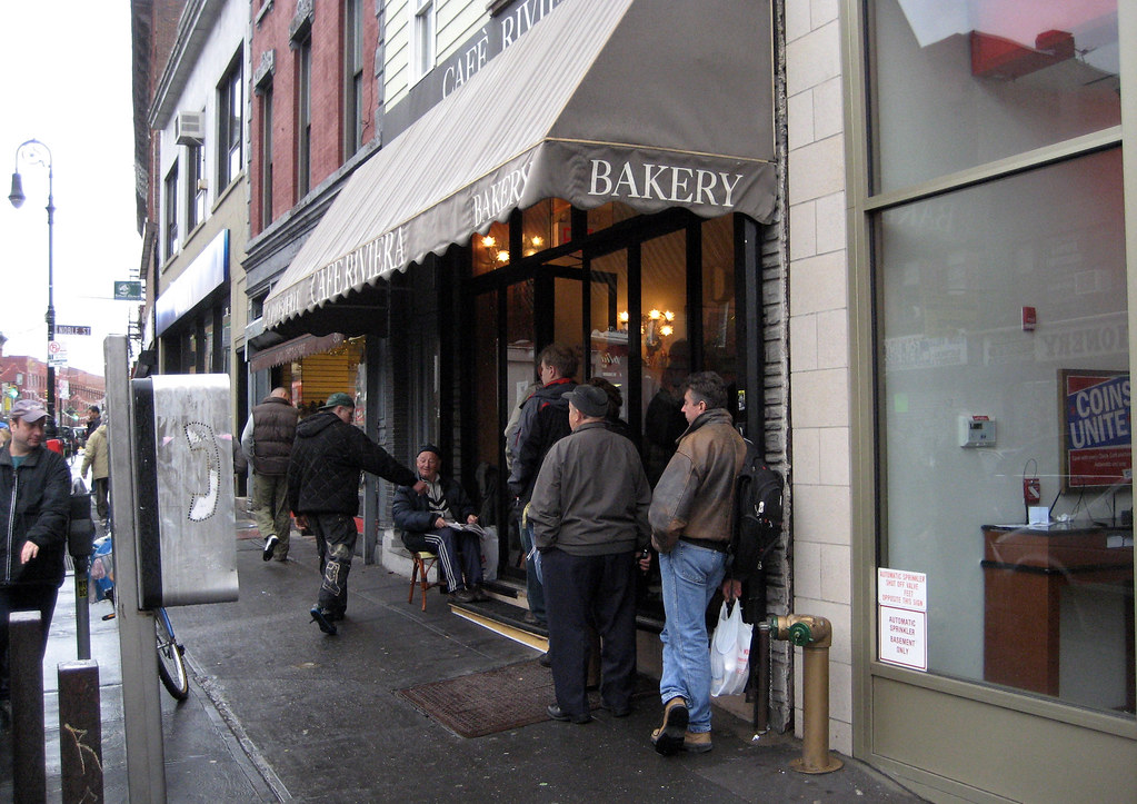 The line at Cafe Riviera
