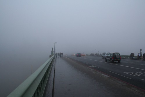 London - Westminster Bridge in the fog