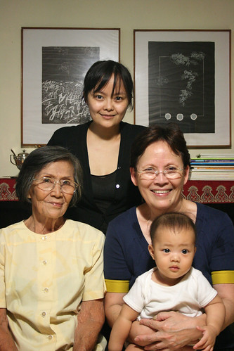 four generations of girls
