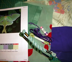 Materials for luna moth