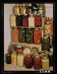 [Display of home-canned food]  (LOC) (The Library of Congress) Tags: food kitchen glass vegetables fruit vintage garden stash store corn display mason wwii harvest slidefilm domestic worldwarii 1940s greens transparency canned ww2 jar peas 4x5 lf beets libraryofcongress carrots pantry preserved veggies pickled fabaceae stores 35 pickle homegrown jars lids spinach largeformat stacked kerr preserves canning worldwar2 cucurbitaceae bottled victorygarden transparencies solanum brassicaceae ration thirtyfive solanaceae foodprocessing masonjars historicalphotographs screwtop conserves balljars phaseolus foodpreservation xmlns:dc=httppurlorgdcelements11 einmachglser dc:identifier=httphdllocgovlocpnpfsac1a35476 vacuseal swisskale incaseasmallarmyturnsupunexpectedly organicandgmofreefoods