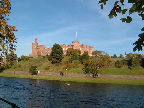 Inverness Castle and River Ness Scotland